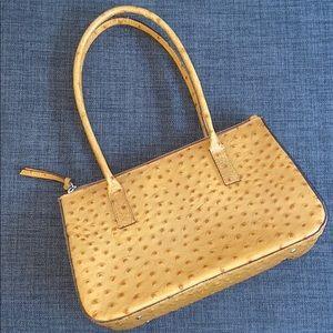 Talbots Ostrich Leather Handbag